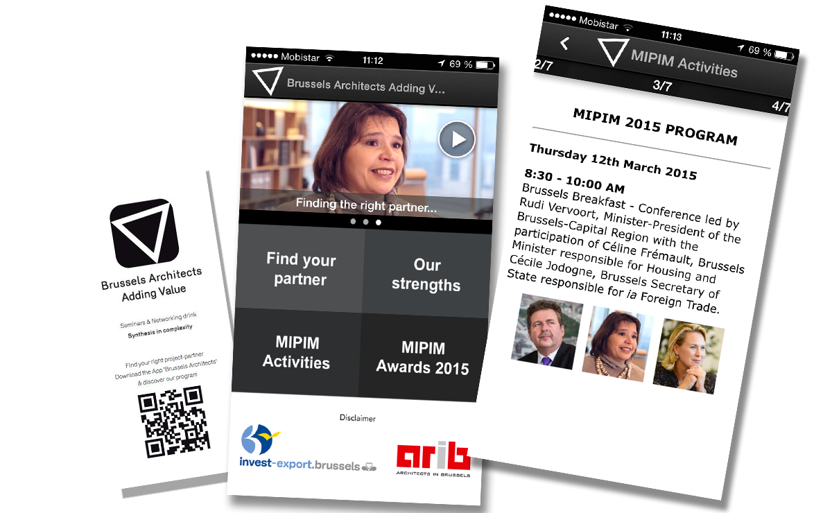 Brussels Architects 2015 app - MIPIM 2015