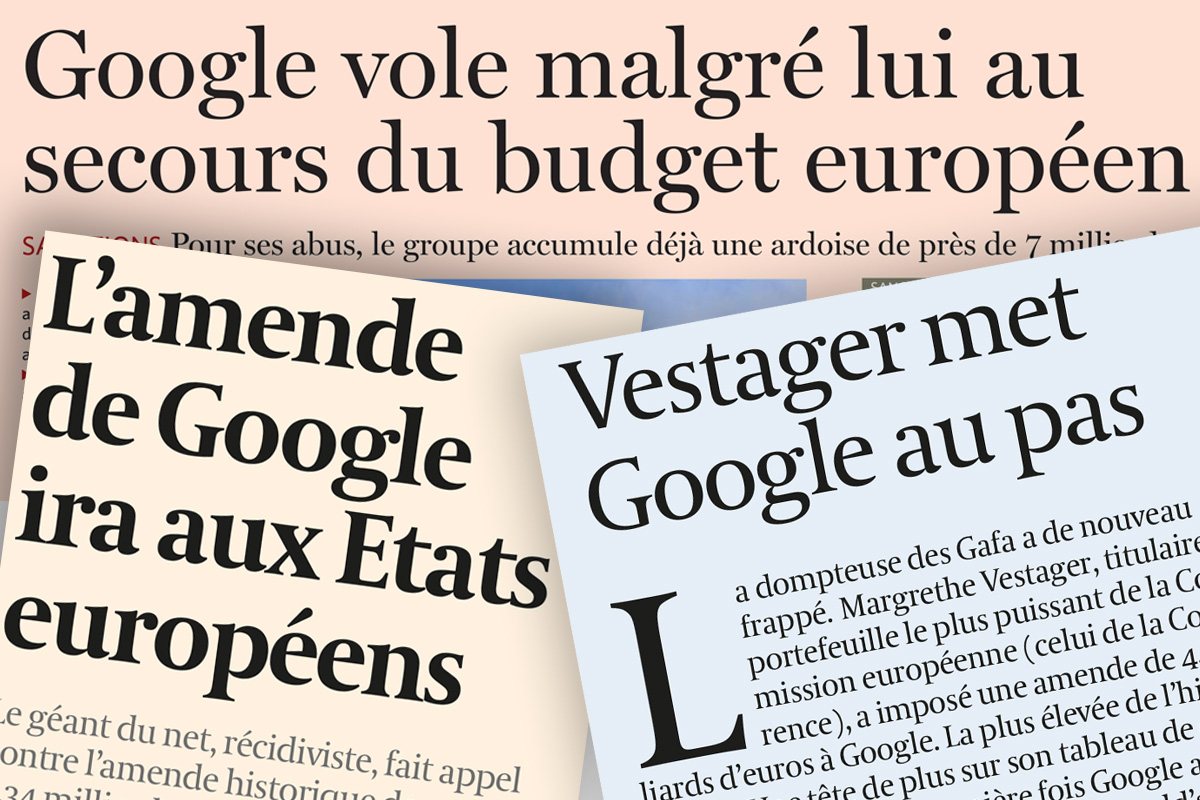 Les sanctions Google : pas d'opportunisme