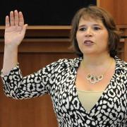 Cécile Jodogne, prestation de serment au Parlement de la Région bruxelloise