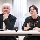 Didier Gosuin et Cécile Jodogne présentent l'agence d'accompagnement aux entreprises hub brussels