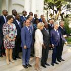 Mission en Côte d'Ivoire, photo officielle après la rencontre avec le Premier Ministre Ivoirien