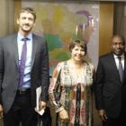 Rencontre avec Monsieur Sidiki Diakite, Ministre Ivoirien de l'Intérieur et de la Sécurité et un représentant de la société Zetes